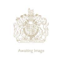 Halcyon Days for Buckingham Palace Cream Heart Wide Bangle