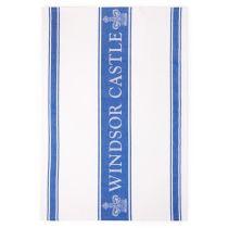 Windsor Castle Blue Waffle Tea Towel