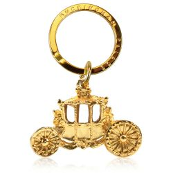 Buckingham Palace Gold State Coach Keyring