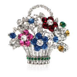 Buckingham Palace Flower Basket Brooch
