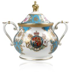 Buckingham Palace Coat of Arms Sugar Bowl