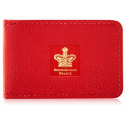 Buckingham Palace Red Leather Card Holder