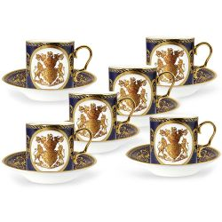 Lustre Cobalt Coffee Cup and Saucer Set