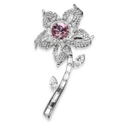 Buckingham Palace Pink Flower Brooch