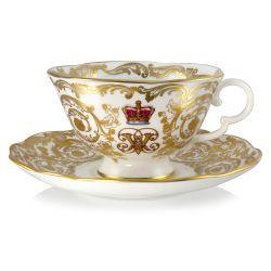 Buckingham Palace Victoria and Albert Teacup and Saucer