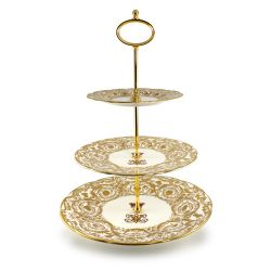 Buckingham Palace Victoria and Albert 3 Tier Cake Stand