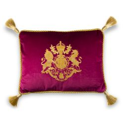 Buckingham Palace Pink Velvet Cushion