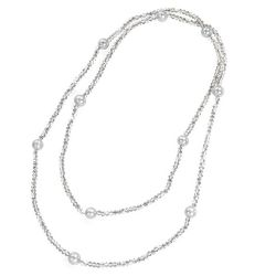 Buckingham Palace Silver Crystal Pearl Rope