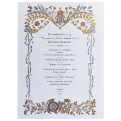 Buckingham Palace Wedding Breakfast Notecards