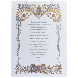 Buckingham Palace Wedding Breakfast Notecards