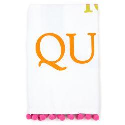 Buckingham Palace Q for Queen Neon Tea Towel