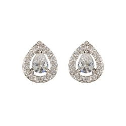 Buckingham Palace Silver Teardrop Earrings