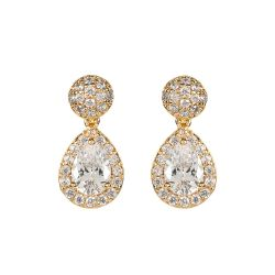 Buckingham Palace Gold Drop Teardrop Earrings