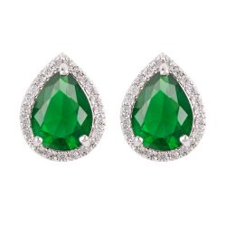 Buckingham Palace Green Teardrop Earrings