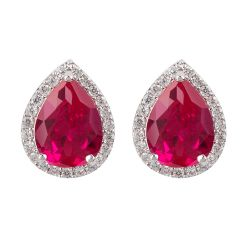 Buckingham Palace Pink Teardrop Earrings
