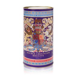 Buckingham Palace Longest Reigning Monarch Double Chocolate Biscuit Tube