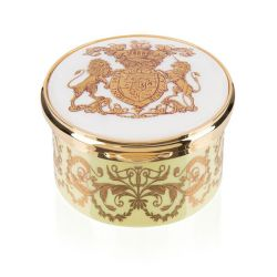 Special Edition Lustre Hinged Pillbox Yellow