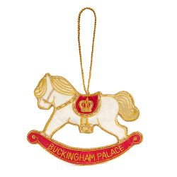 Buckingham Palace Rocking Horse Decoration White