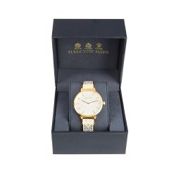 Halcyon Days for Buckingham Palace Cream Heart Watch