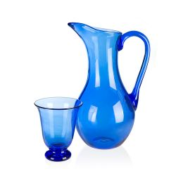 Buckingham Palace Bristol Blue Glass Water Jug
