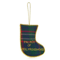 Holyrood Palace Tartan Christmas Stocking