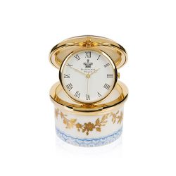 Buckingham Palace Royal Birdsong Gilded Pillbox Clock