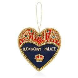 Buckingham Palace Navy and Red Heart Decoration