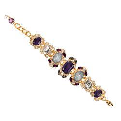 Vicki Sarge Purple Crystal Bracelet