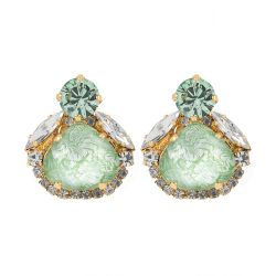 Vicki Sarge Pastel Green Stud Earrings
