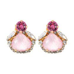 Vicki Sarge Pastel Pink Stud Earrings