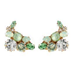 Vicki Sarge Pastel Green Clip Cuff Earrings