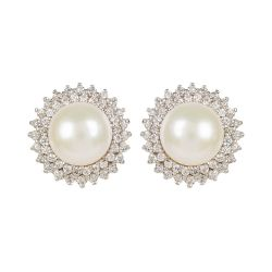 Buckingham Palace Centred Pearl Earrings