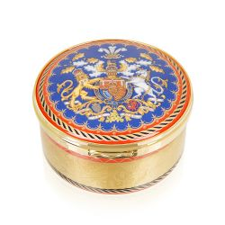 Limited Edition The Prince of Wales 70th Birthday Commemorative Round Hinged Box
