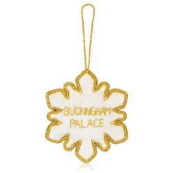 Buckingham Palace Crystal Snowflake Decoration