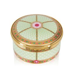 Limited Edition Imperial Russian Green and Gold Pillbox