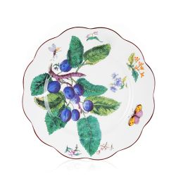 Chelsea Porcelain Scalloped Plate