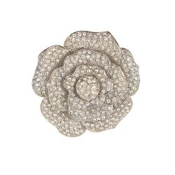 Buckingham Palace Crystal Rose Brooch