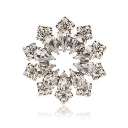 Buckingham Palace Crystal Decagon Brooch