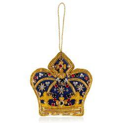 Buckingham Palace Navy Crystal Crown Decoration