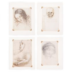 Leonardo da Vinci Set of Four Small Prints