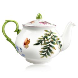 Chelsea Porcelain Teapot with a design featuring botanical patterns.