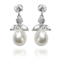 Buckingham Palace Pearl and Crystal Earrings