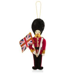 Buckingham Palace Guardsman Decoration with Flag