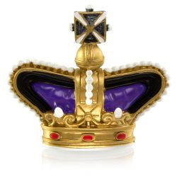 Buckingham Palace Purple Crown Magnet