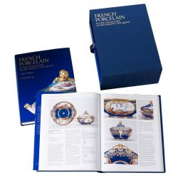 Volume 1 of 3 of the French Porcelain in the Collection of Her Majesty The Queen book written by Sir Geoffrey de Bellaigue.