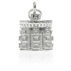 silver charm of the Round Tower at Windsor Castle for a charm bracelet