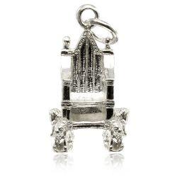 Buckingham Palace Silver Throne Charm