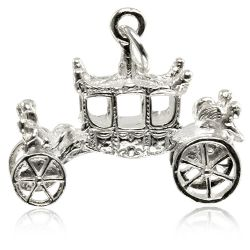 Buckingham Palace Silver State Coach Charm