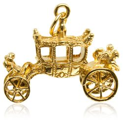 Buckingham Palace Gold State Coach Charm