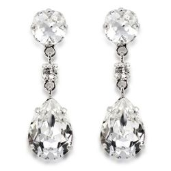 Coronation Swarovski crystal drop earrings inspired on Her Majesty Queen Elizabeth II original coronation earrings.